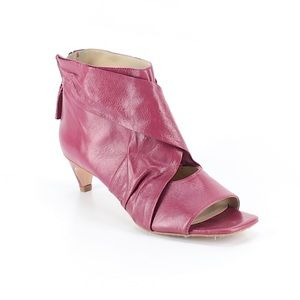 Zara Peep Toe Leather Booties